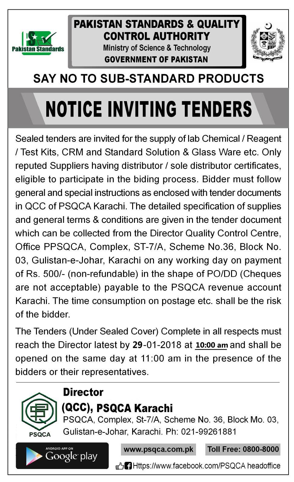tenders development sector pakistan